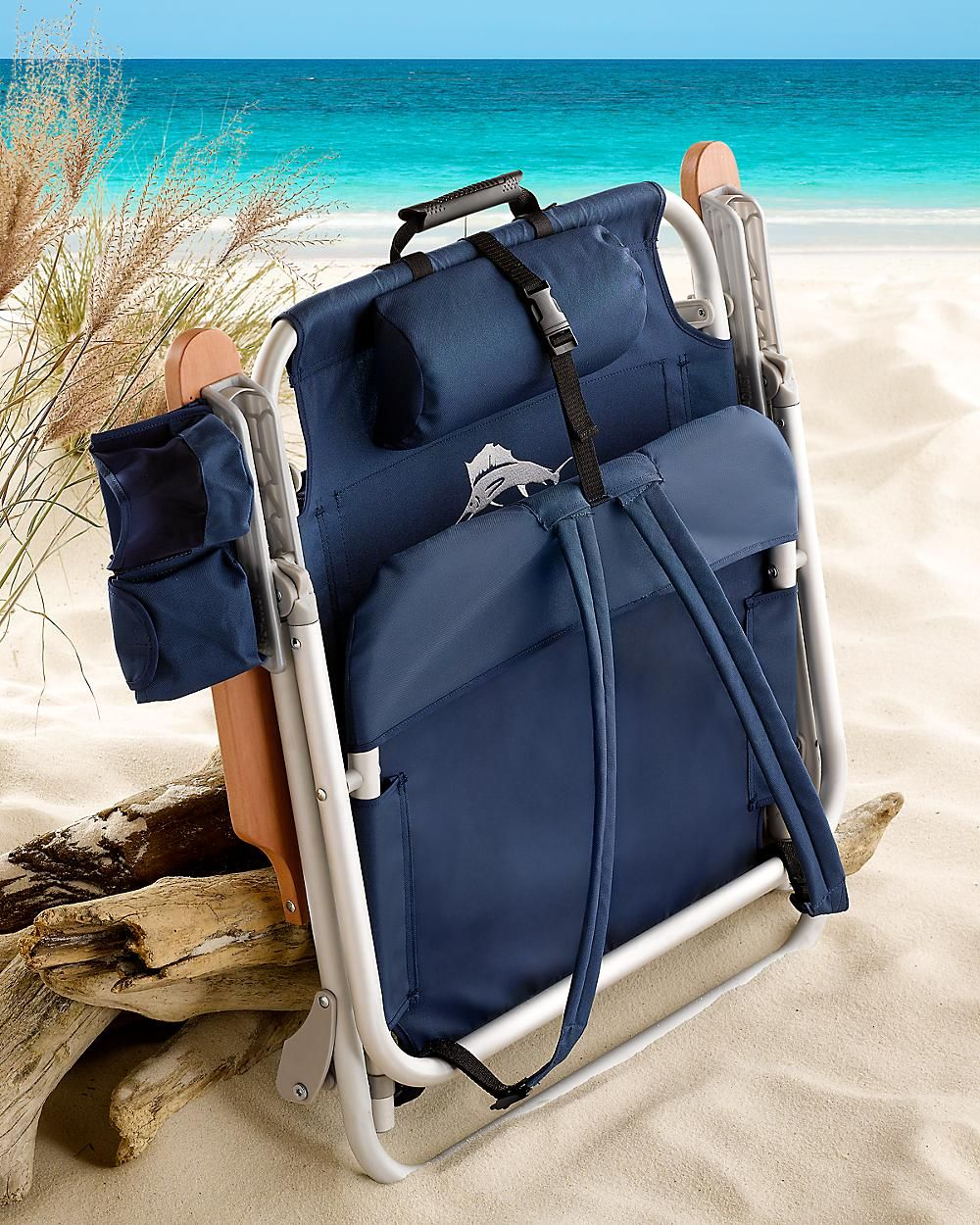 Tommy Bahama beachconcert chair Navy Deluxe Backpack Beach – Deluxe Beach Chairs