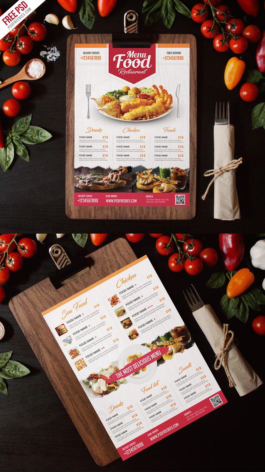 Simple Restaurant Food Menu Flyer Template Psd  Food Menu