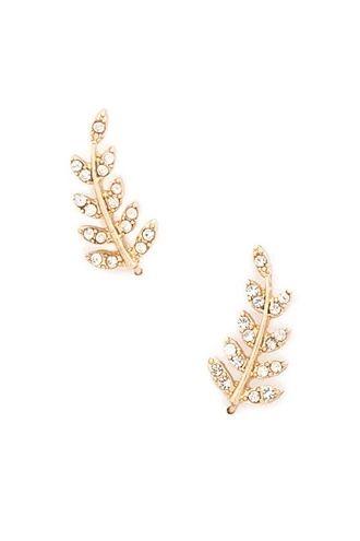 Rhinestone Leaf Ear Pins | Forever 21 #f21accessorize