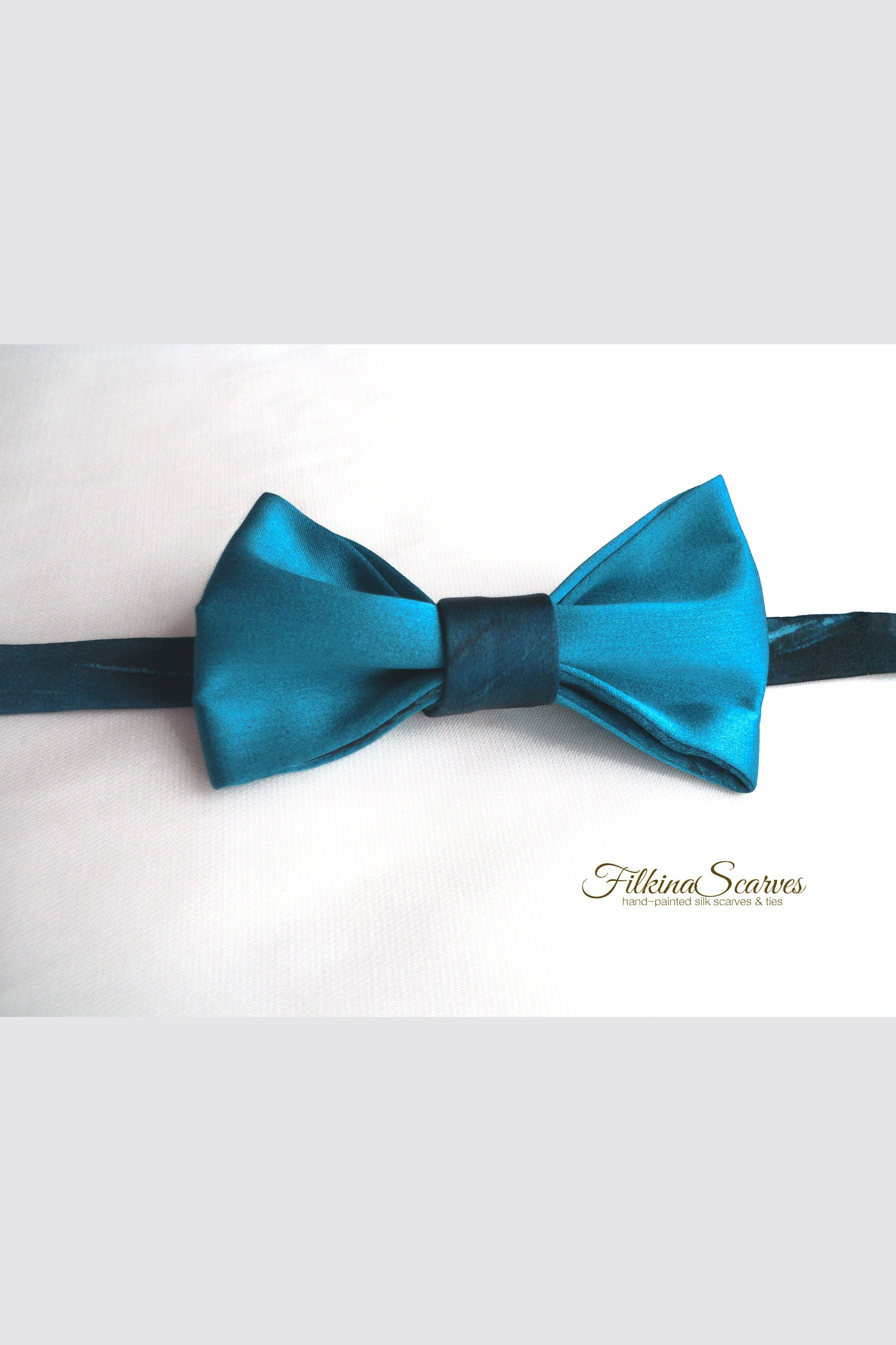 f5951ea1047d Toddler Boys PreTied Wedding Blue Silk Satin Bow Tie HANDPAINTED Page  Childs Bowtie for Kids Adjustable neck strap Self-adhesive Velcro Tape  #bluewedding ...