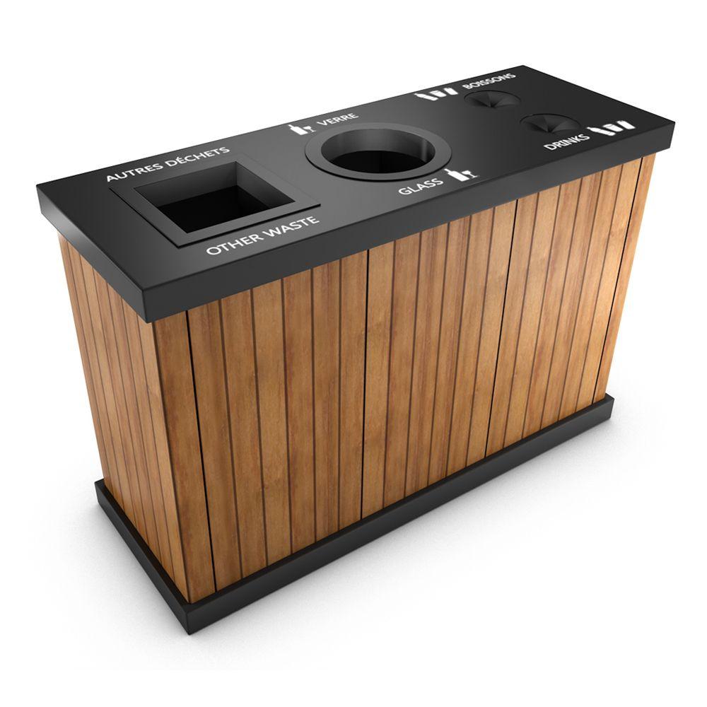 natura corbeille ext rieure pour tri s lectif 3 bacs 2019 poubelle de tri. Black Bedroom Furniture Sets. Home Design Ideas