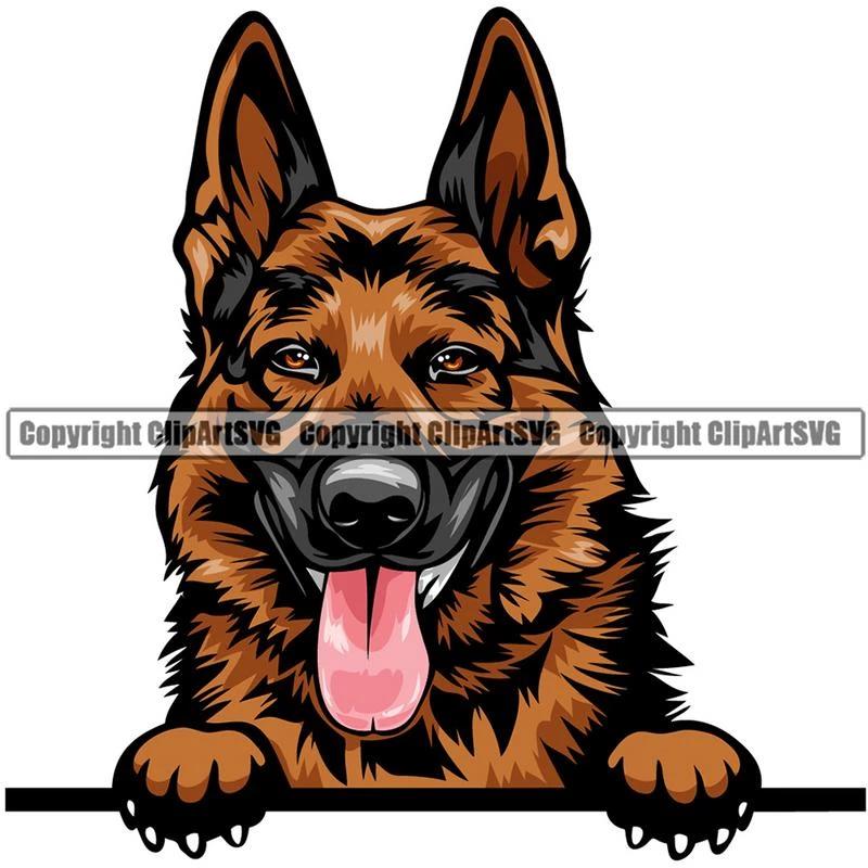 German Shepherd Dog Breed Peeking Color Clipart Svg Shepherd Dog Breeds Pedigree Dog Dog Peeking
