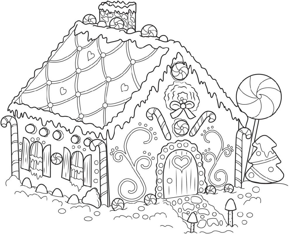 Gingerbread House Coloring Pages Candy Coloring Pages Christmas Coloring Pages Free Christmas Coloring Pages