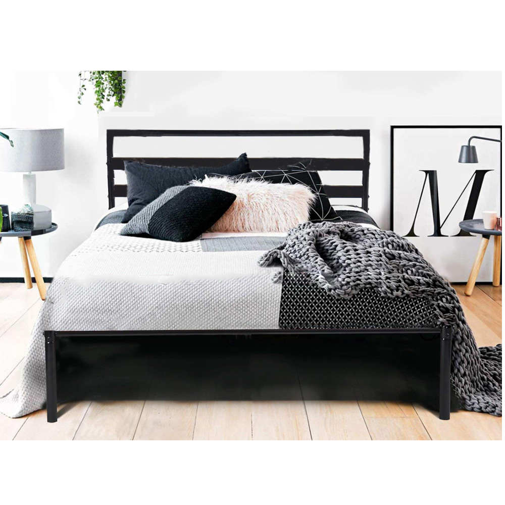 Ubesgoo Twin Bed Frame Metal Platform Mattress Base Black