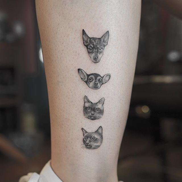 Nandotattooer Cat Face Tattoos Tattoos Dog Tattoos