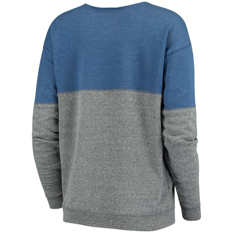 Women S New Era Charcoal Blue Oklahoma City Thunder Fleece Tri Blend Scoop Neck Pullover Sweatshirt Pullover Sweatshirt Pullover Sweatshirts [ 1500 x 1500 Pixel ]