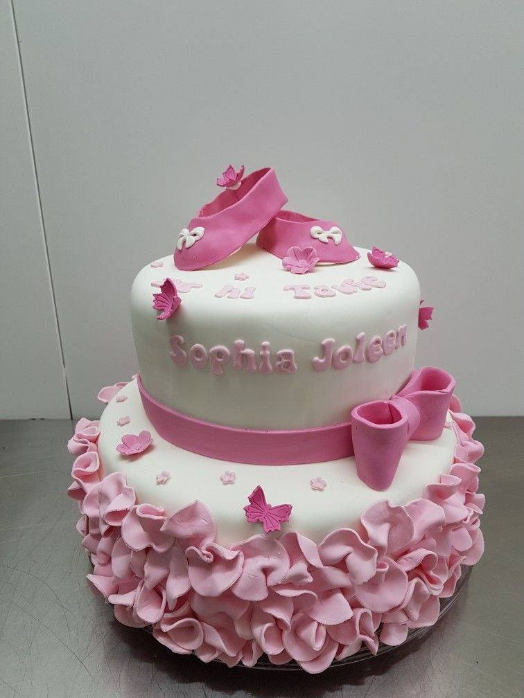 tauftorte m dchen mit fondant ballerina rosa christening cake tauftorten in 2019 pinterest. Black Bedroom Furniture Sets. Home Design Ideas