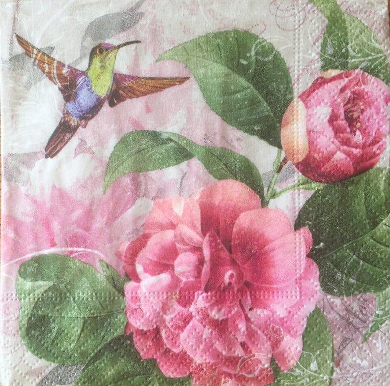 2 Paper Napkins for Decoupage Parties Wreath Weddings