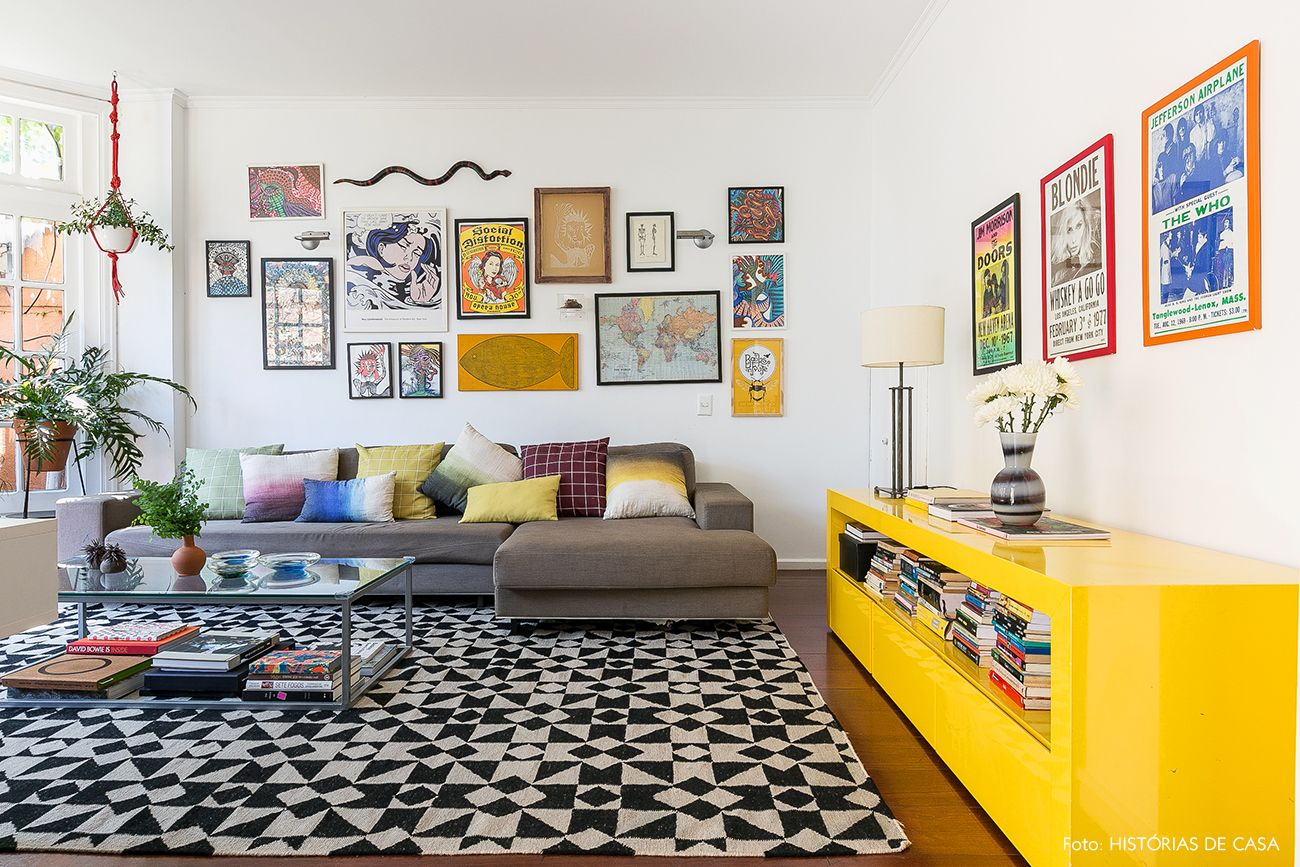 A Vida Com Mais Cor Future House House And Room -> Parede Galeria Sala