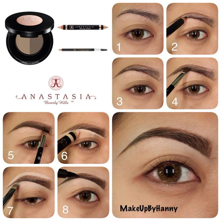 Another Eyebrow Pictorials Using Anastasia Beverly Hills Brow