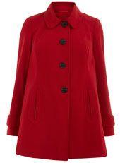 Red Twill Swing Coat