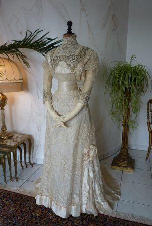 antikes Hochzeitskleid 1908   Belle Epoque   Pinterest ...