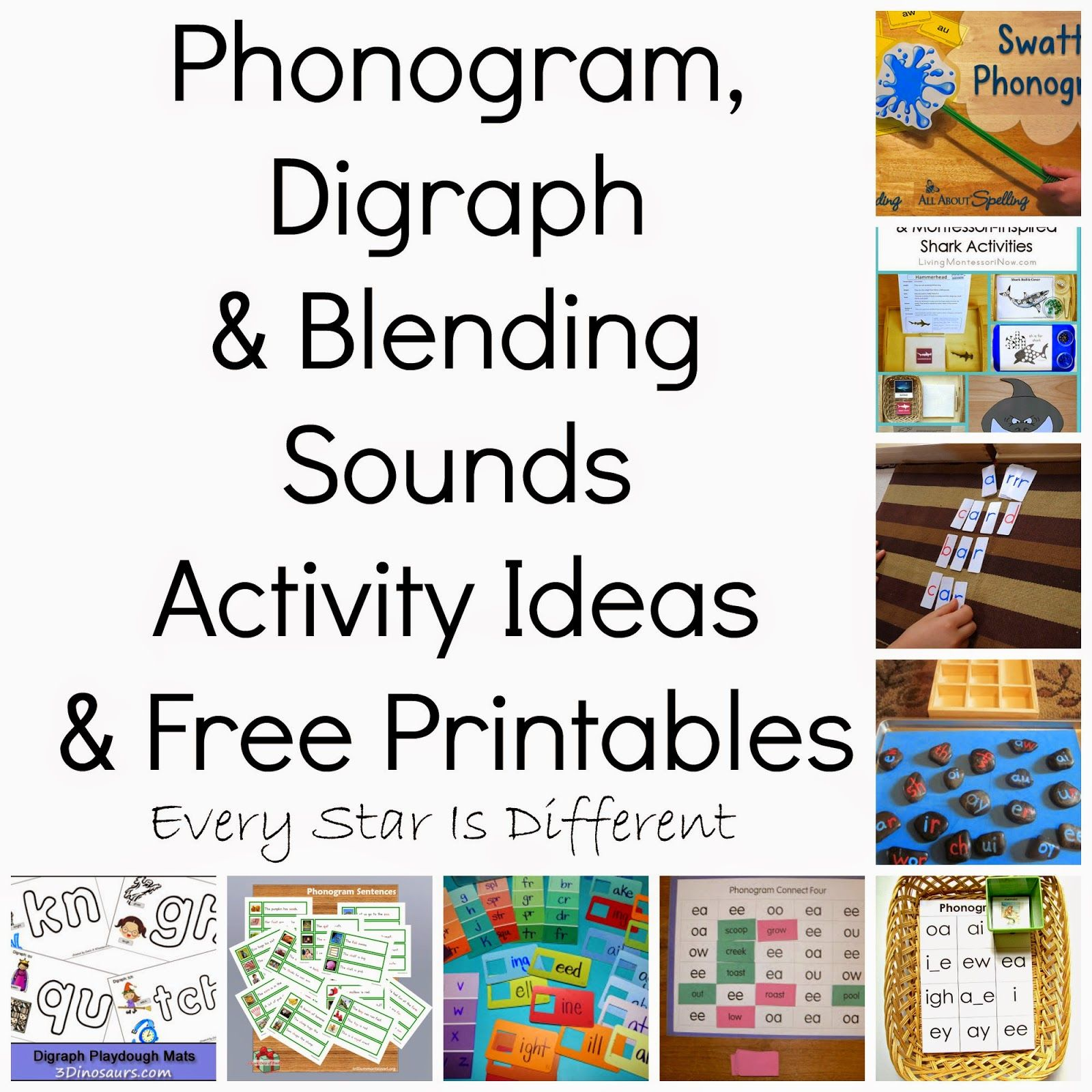 Phonogram Digraph Amp Blending Sounds Activity Ideas Amp Free Printables Klp Linky Party