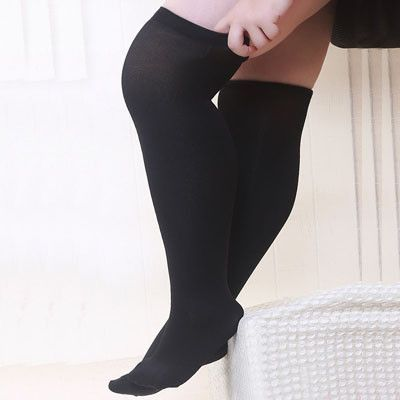 fashion sexy thigh high stockings plus size over knee large