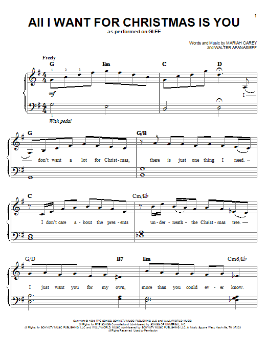 christmas sheet music for piano solo