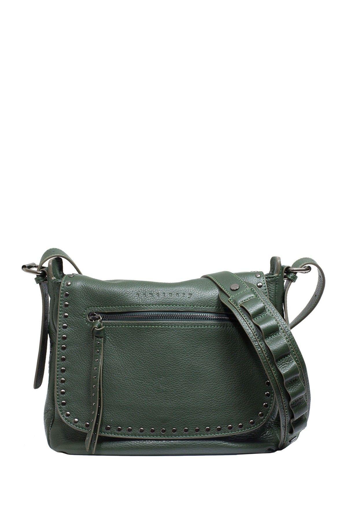 Leather City Saddle Flap Shoulder Bag