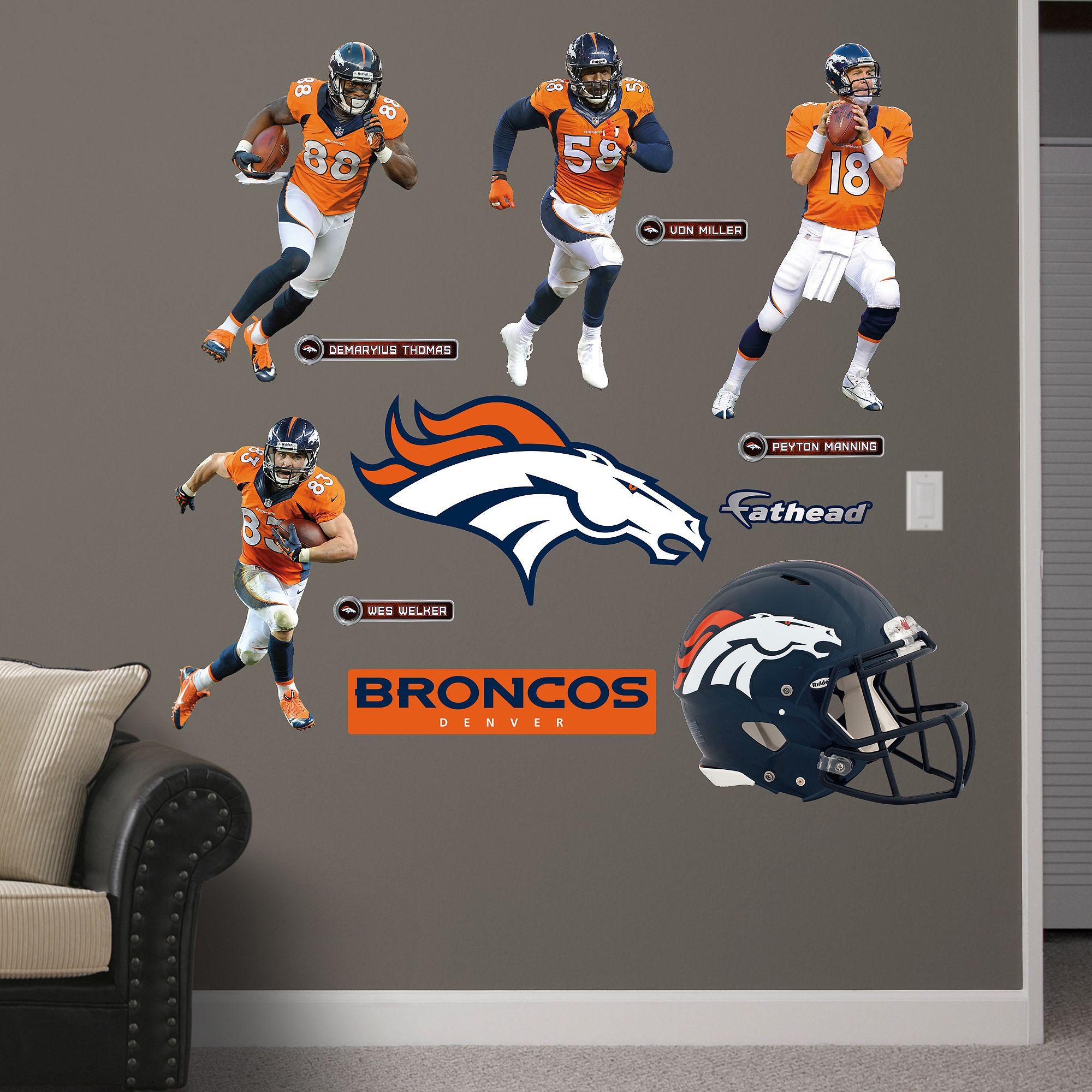 Fathead Denver Broncos Power Pack Wall Decals