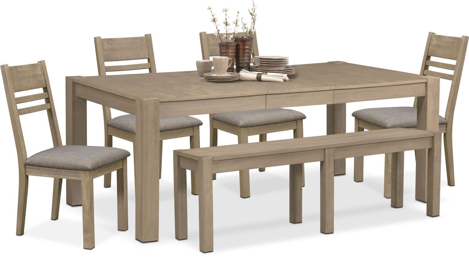 Prime Tribeca Table 4 Side Chairs And Bench Gray Products In Bralicious Painted Fabric Chair Ideas Braliciousco