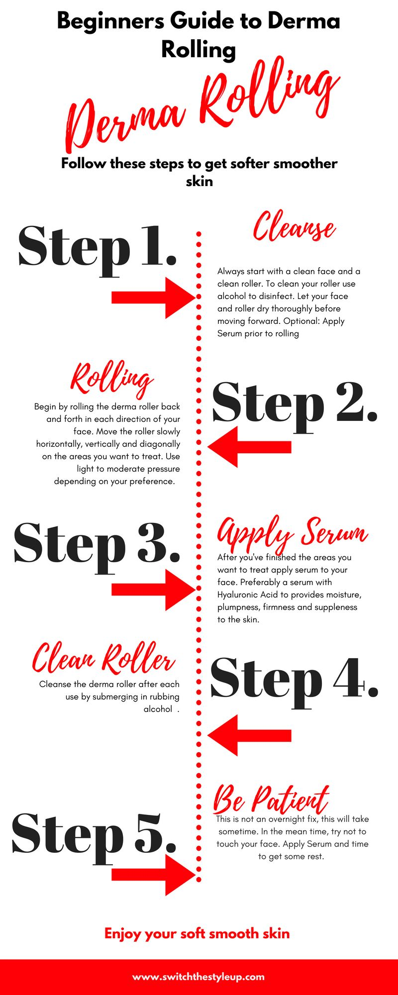 Complete Guide To Derma Rolling For Beginners Switch The Style Up Derma Rolling Skin Skin Moisturizer