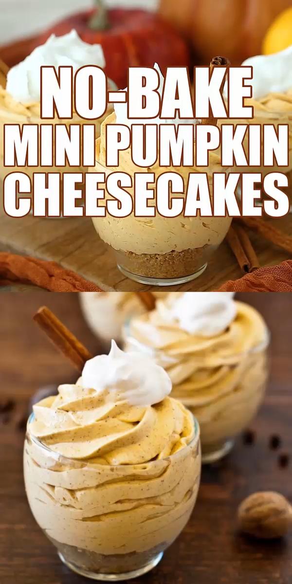 No-Bake Mini Pumpkin Cheesecake
