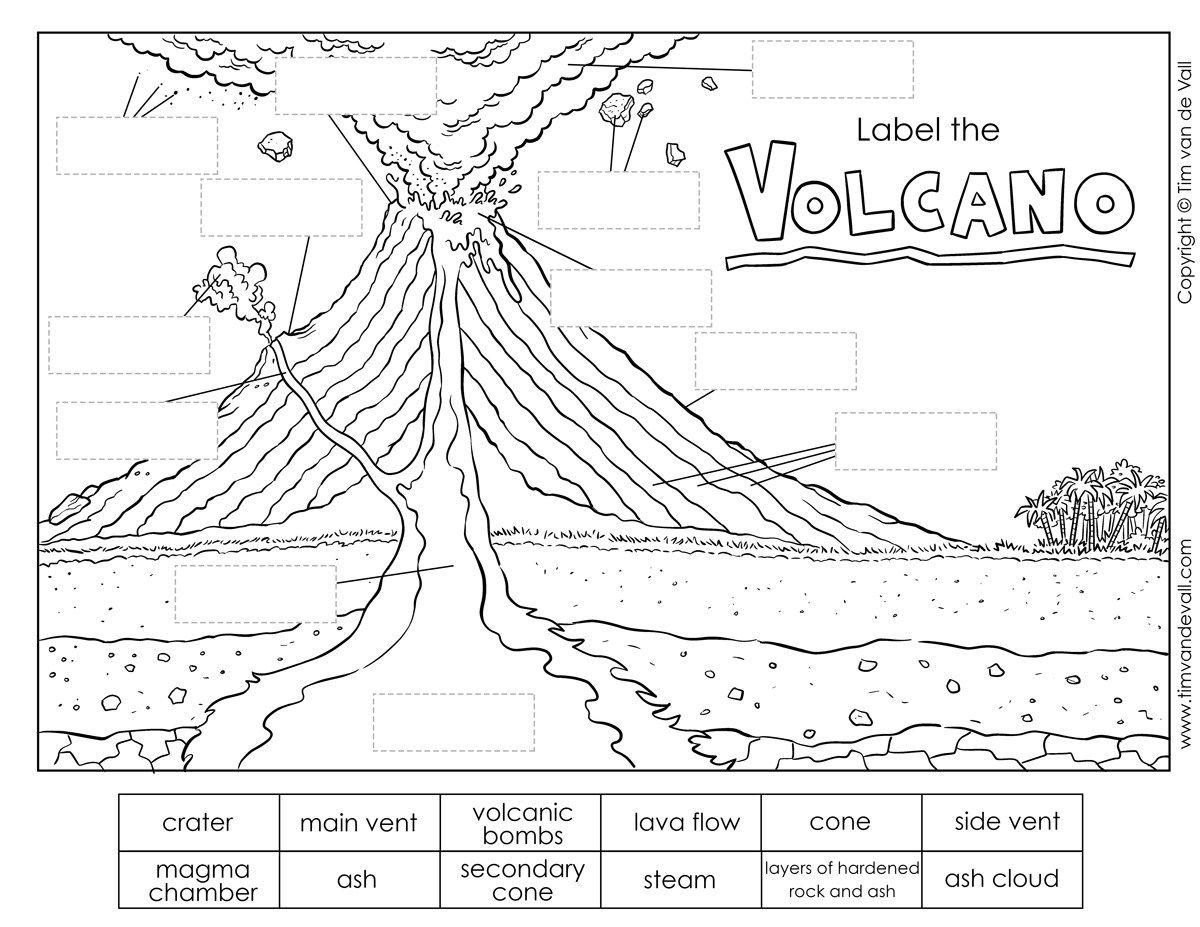 label the volcano worksheet   Volcano worksheet [ 927 x 1200 Pixel ]