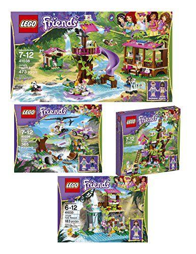 Lego Friends Jungle Rescue Base with Lego Rescue Falls, Jungle ...