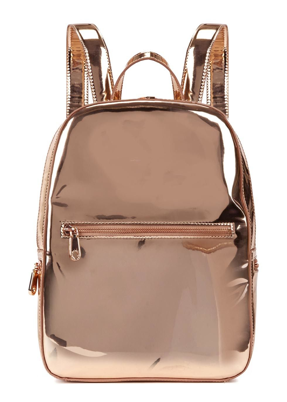 506c49869ab1 DKNY Rose Gold Leather Backpack - £220.00