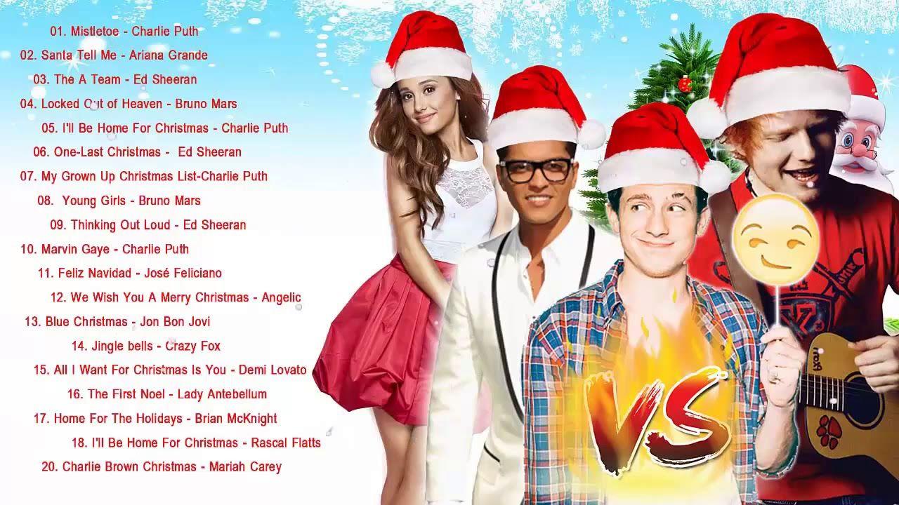 Bruno Mars,Charlie Puth,Ed Sheeran Best Christmas Songs,Greatest ...