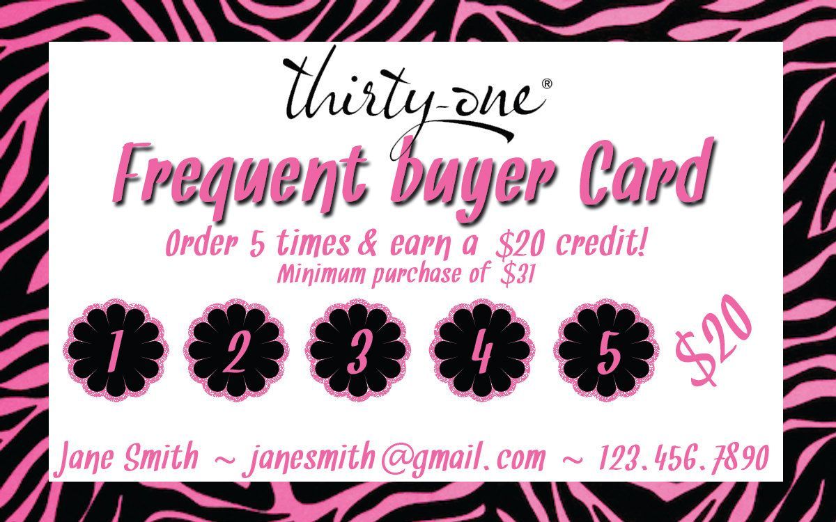 Magnificent Frequent Buyer Card Template Contemporary - Resume Ideas ...