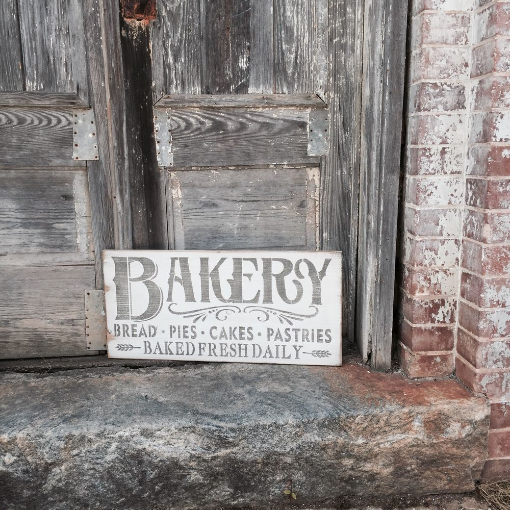 Details about bakery baked fresh daily bakery sign