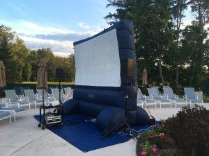 Outdoor Inflatable Movie Screen Rentals #CMTSoundSystems Offers Full  #movienight Packages. Delivery Is Available. Great For Backyard Movie  Nights, ...
