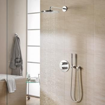 Grohe grohtherm 3000 cosmopolitan concealed shower system for Bathroom remodel 3000