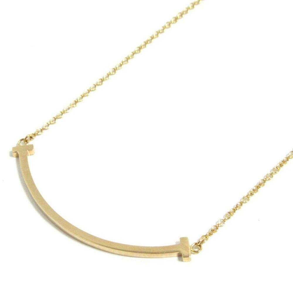 fb887927dbf50 eBay #Sponsored Authentic TIFFANY&CO T Smile Necklace 18KYG (750 ...