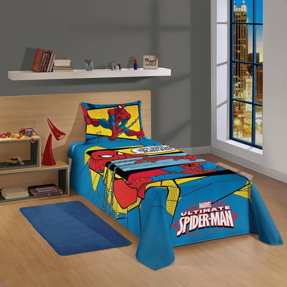 ecc52975b0 Jogo de Cama Solteiro Spider-Man Ultimate com 2 Peças - Lepper ...