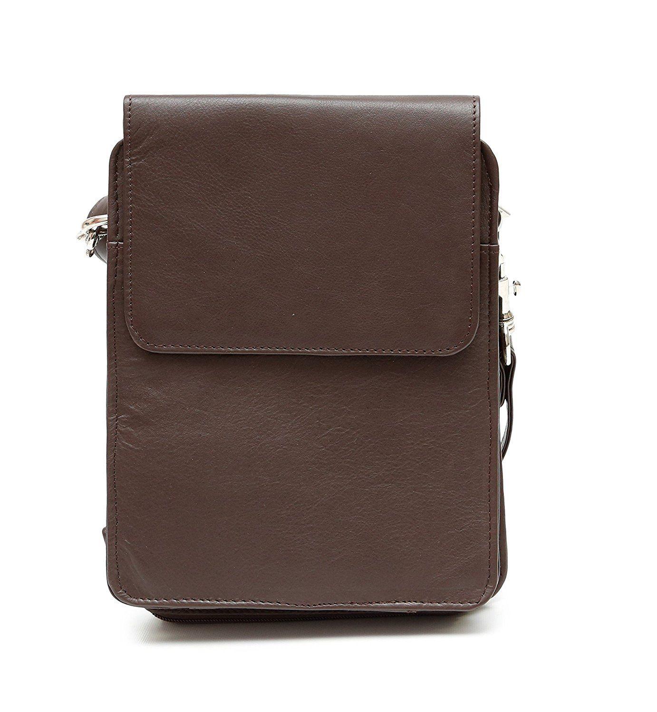 d2c695137fdb Ashlin Genuine Leather British Organizer Messenger Bag
