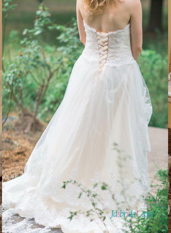 Bohemian Hi Lo Wedding Dresses