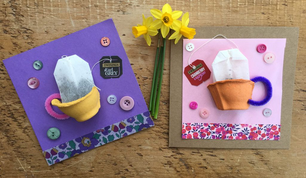 Tea cup Mother's Day cards Mothers day crafts, Egg