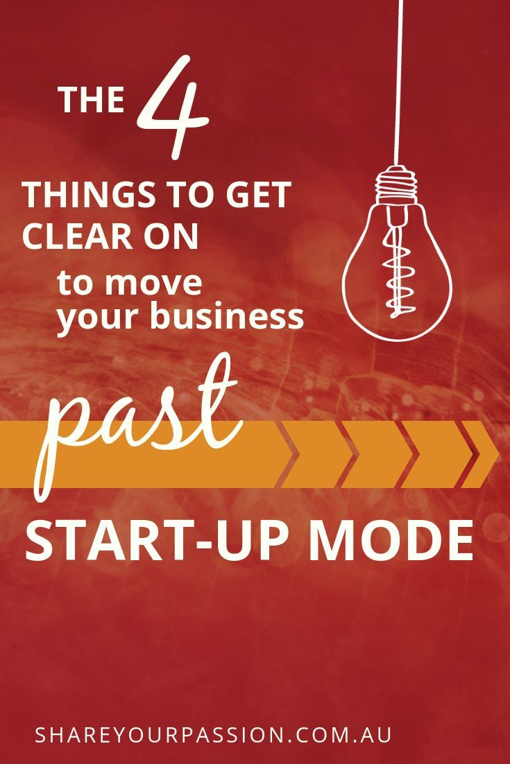 How to move out of the startup phase and create a stable