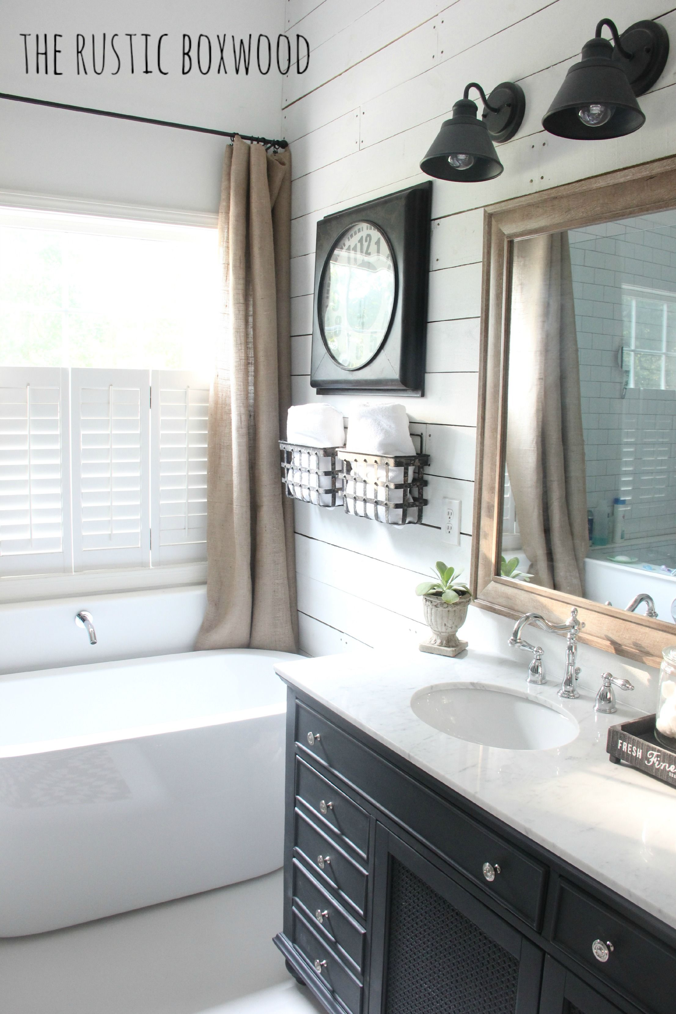 Our DIY, FarmhouseStyled Bathroom Makeover The Rustic