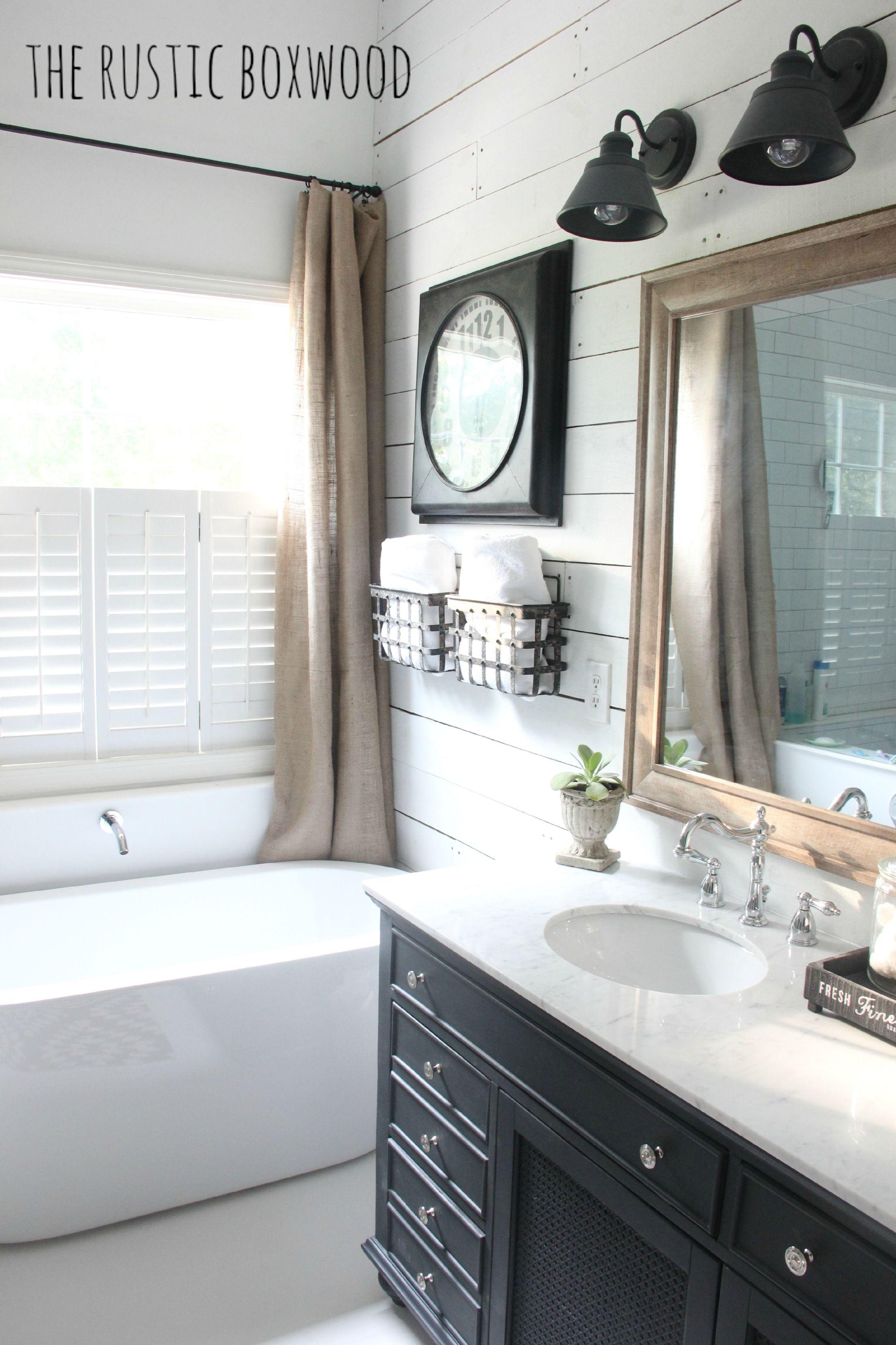 Diy Farmhouse-styled Bathroom Makeover Rustic Boxwood Farmhouse Shiplap
