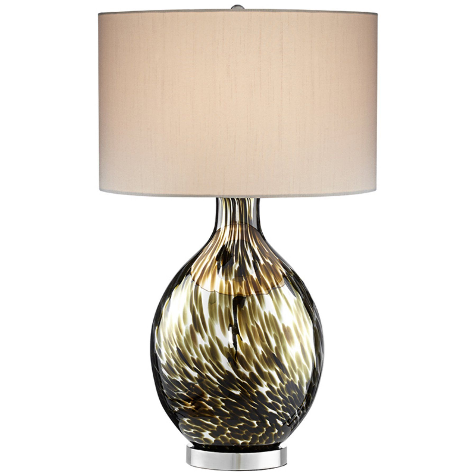 glass magnifying in lamp silver linen table mercury shade inch image item round cfm high shown metis pacific beige lighting finish and light coast