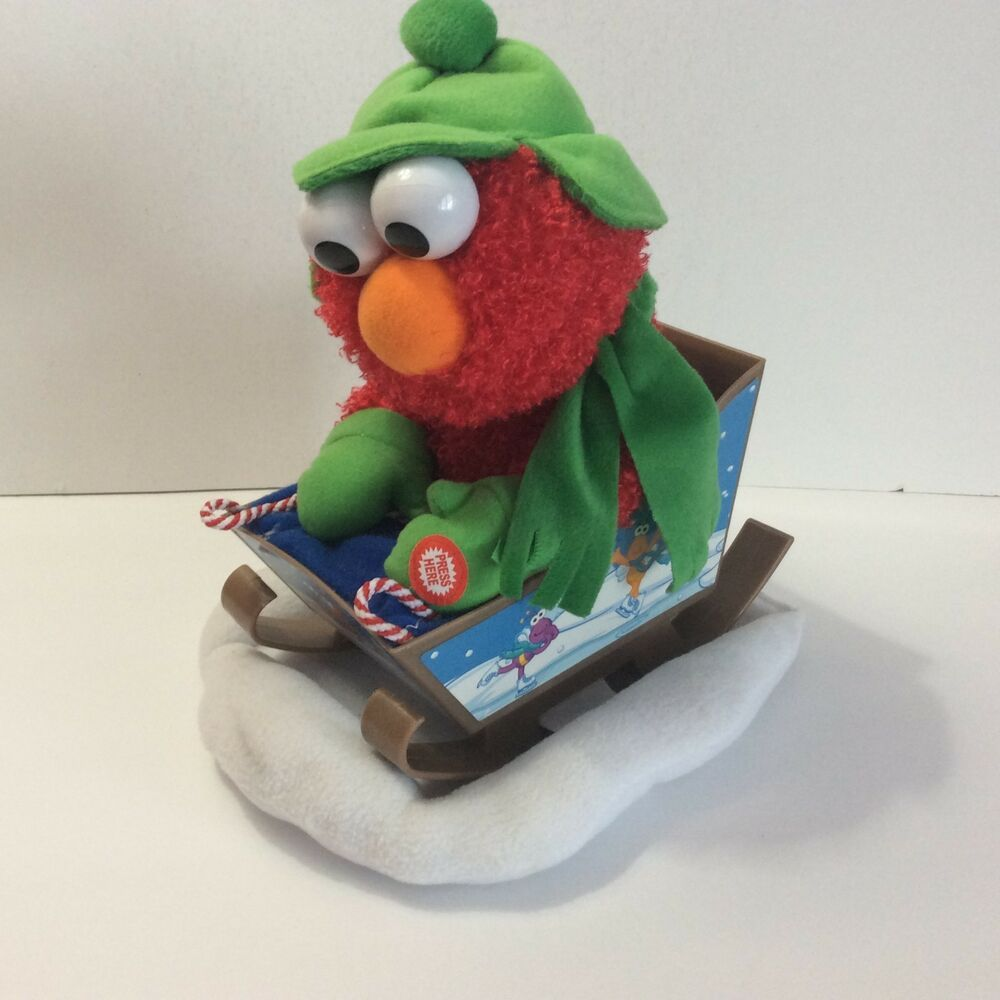 sesame street animated sledding
