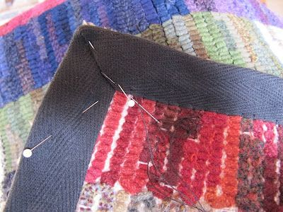 Fish Eye Rugs: more on finishing...
