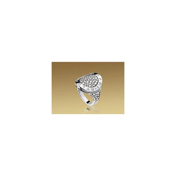 Bulgari BVLGARI BVLGARI ring in 18kt white gold with pav diamonds