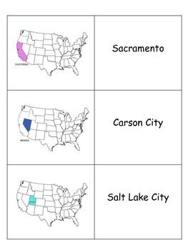 Included In This Document Are Flashcards For States And Capitals - West region states and capitals