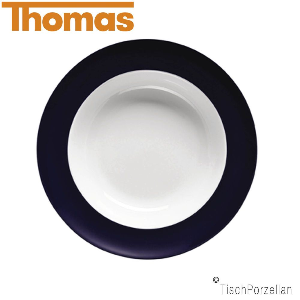 23 cm Thomas Sunny Day Suppenteller Petrol Blue // Blau Pastateller Porzellan