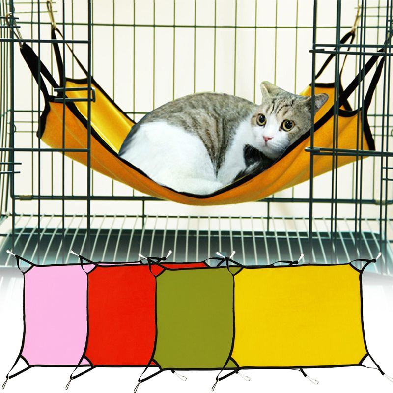 1 Pcs Portable Pet Sleeping Hammock Cat Dog Bed Hang Travel Camping
