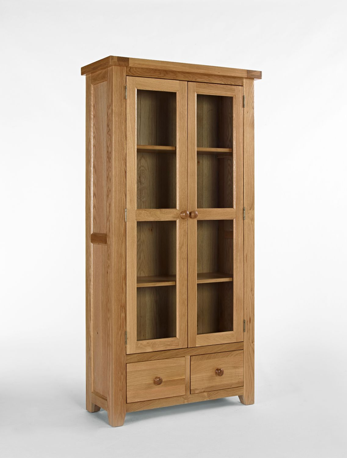 Dining Room Devon Oak Glass Display Cabinet Is A Great For Displaying