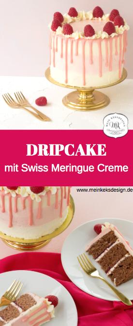 Einfacher DRIP CAKE mit frischen Himbeeren. Torten und Kuchen werden mit einer v… – Torten dekorieren