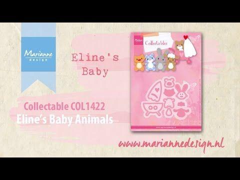 Marianne Design Eline/'s Baby Animals Collectables Cutting Die Set COL1422